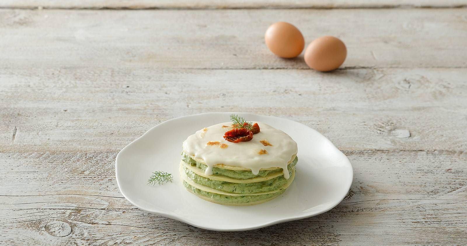 Torta di crepes ricotta e spinaci - Parmalat
