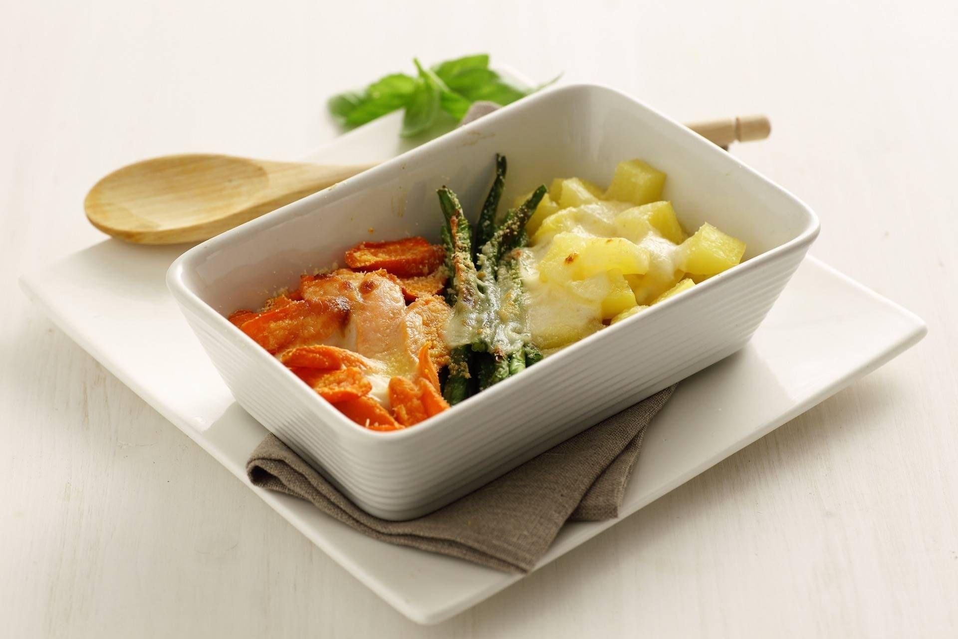 Verdure al forno con besciamella alla senape - Parmalat