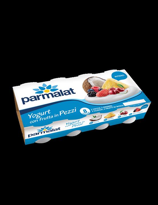 8 Yogurt Parmalat con Frutta in pezzi