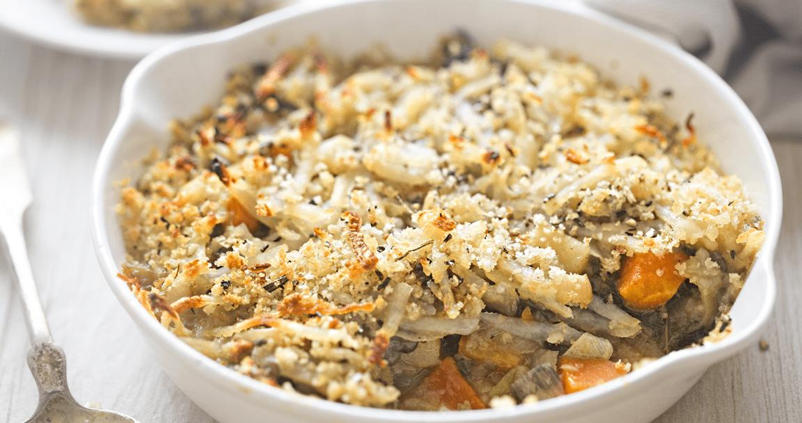 Pasta zucca e salsiccia al forno - Parmalat